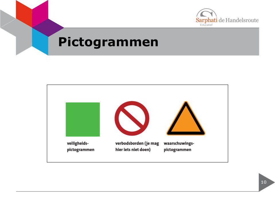 Pictogrammen 10