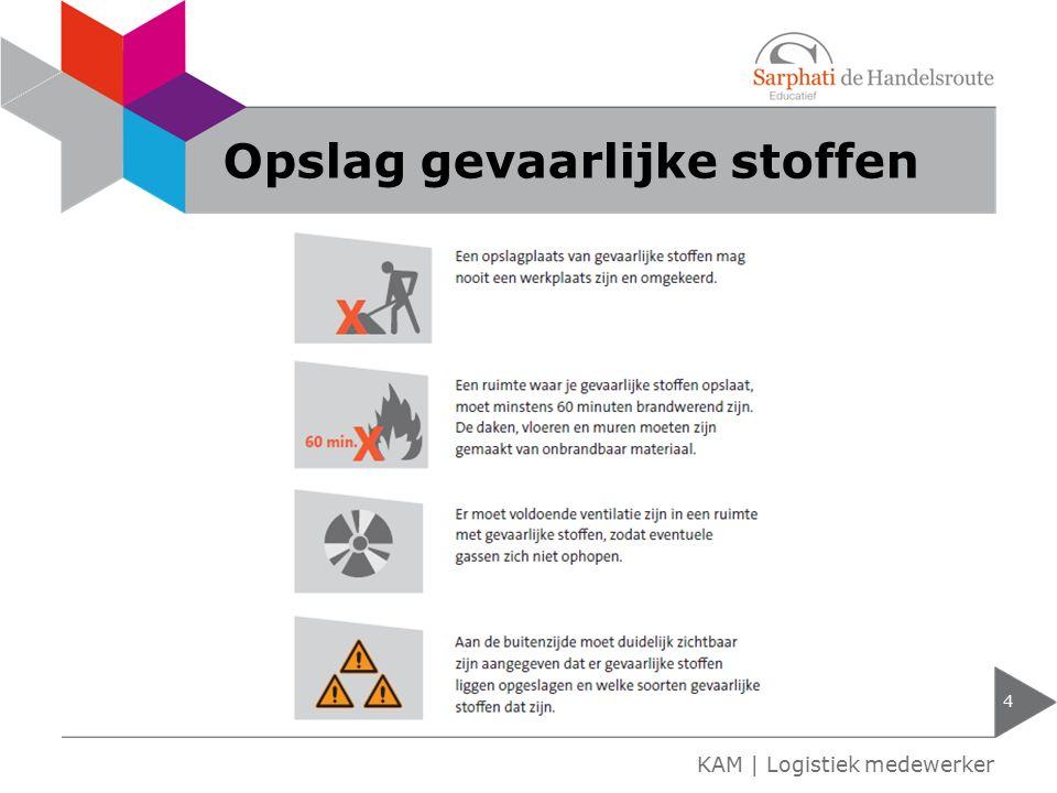 Opslag gevaarlijke stoffen 4 KAM | Logistiek medewerker