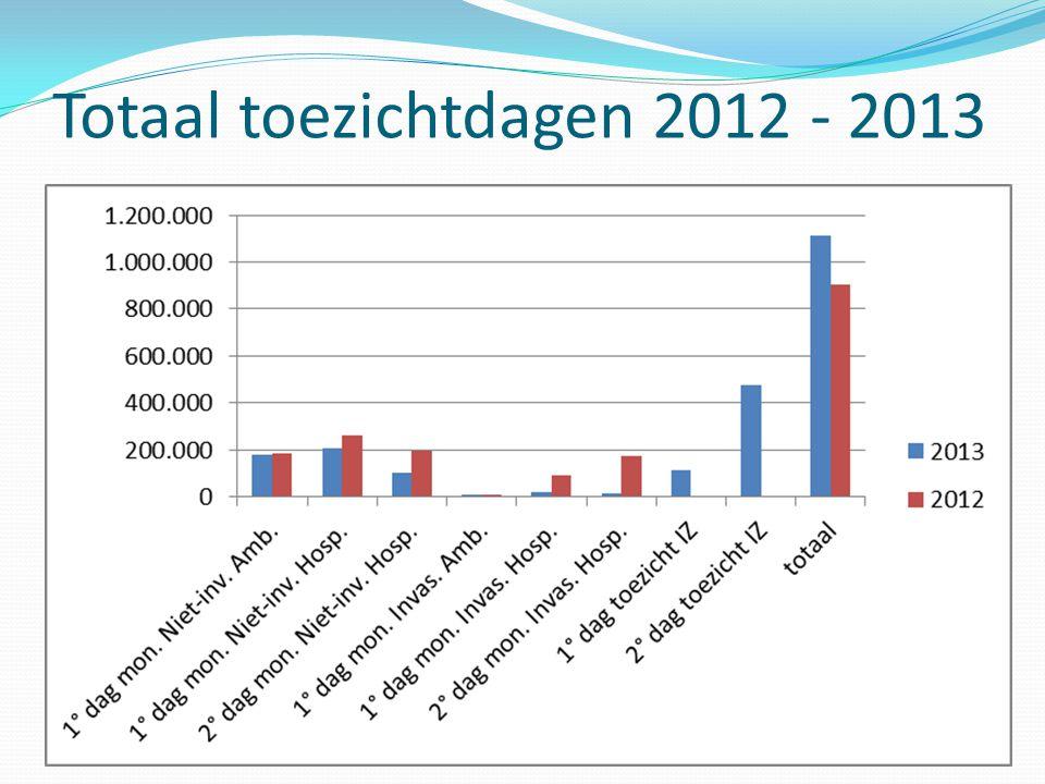 Totaal toezichtdagen 2012 - 2013