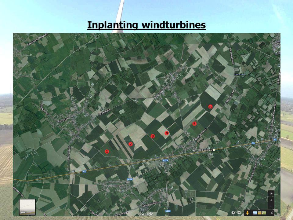 Inplanting windturbines