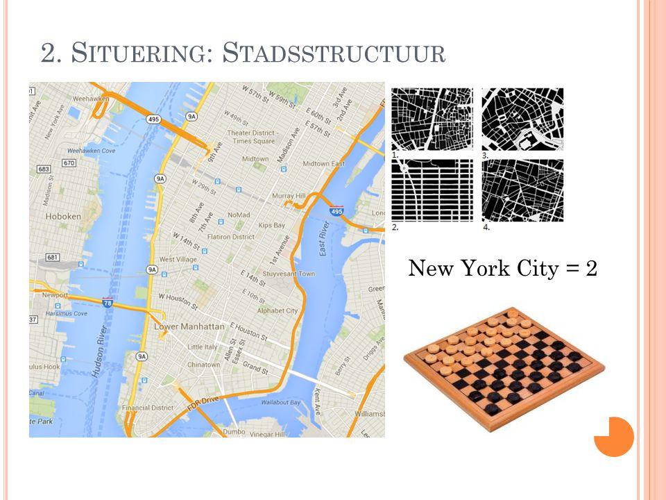 2. S ITUERING : S TADSSTRUCTUUR New York City = 2