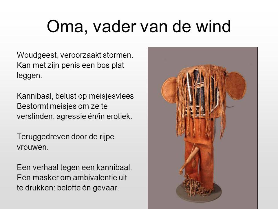 Oma, vader van de wind Woudgeest, veroorzaakt stormen.