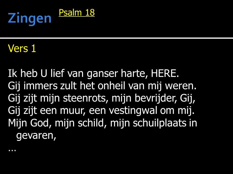 Vers 9 Alleen Gods weg kan tot het doel geleiden, zijn woord is waar en zuiver t allen tijde.