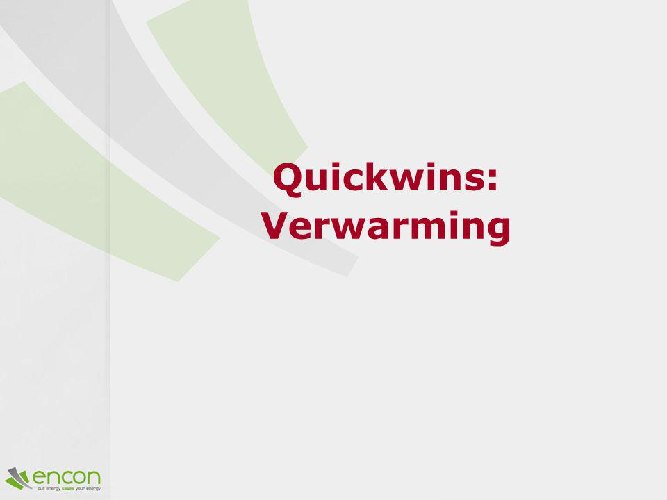 Quickwins: Verwarming
