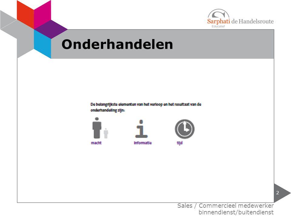 Sales / Commercieel medewerker binnendienst/buitendienst Onderhandelen 2