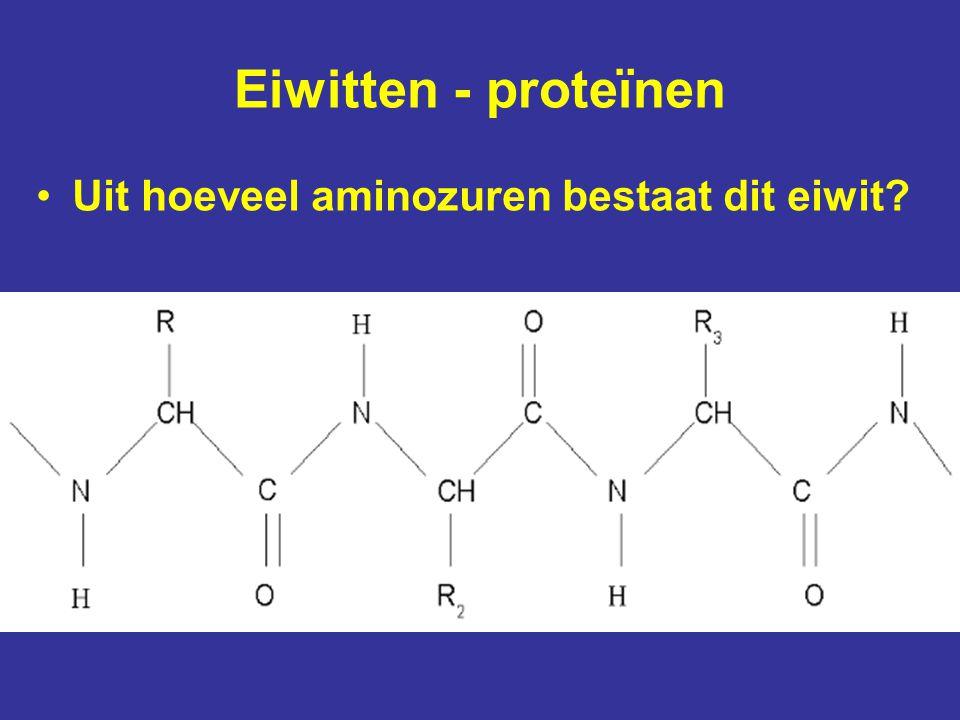 Eiwitten - proteïnen Uit hoeveel aminozuren bestaat dit eiwit?