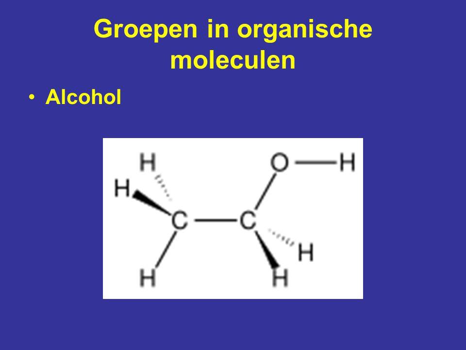 Groepen in organische moleculen Fosfaatgroep (H 2 PO 4 ) zuur DNA pH 13pH 1 fosfolipide