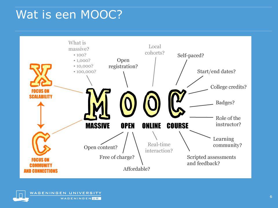 Wat is een MOOC 6