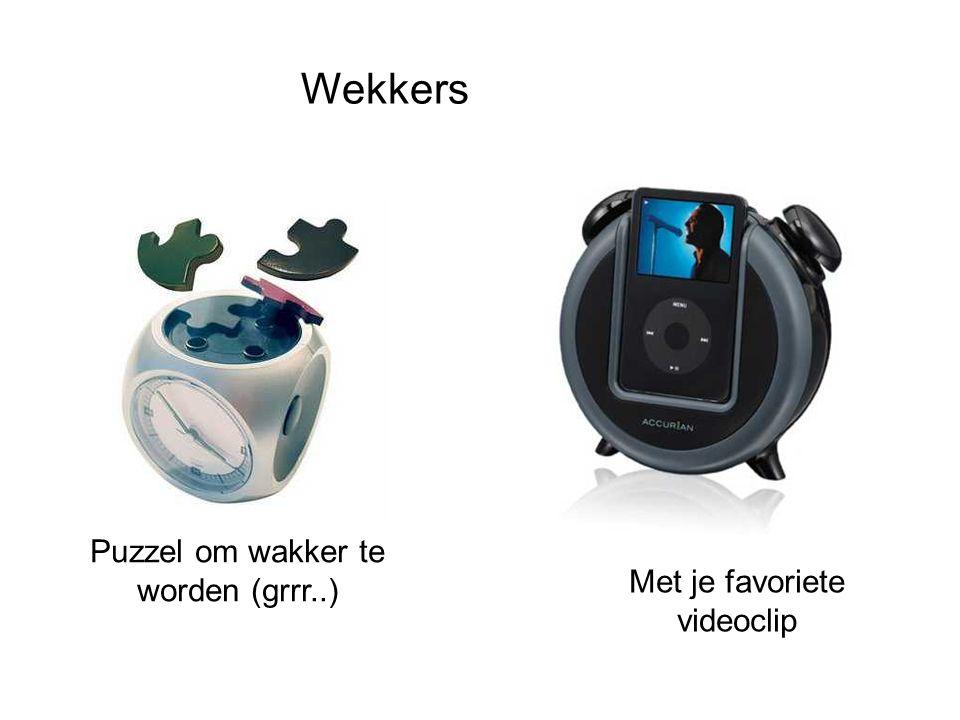 Wekkers Puzzel om wakker te worden (grrr..) Met je favoriete videoclip