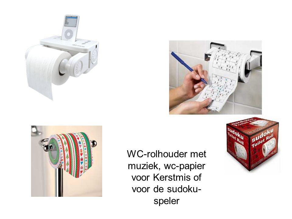 WC-rolhouder met muziek, wc-papier voor Kerstmis of voor de sudoku- speler