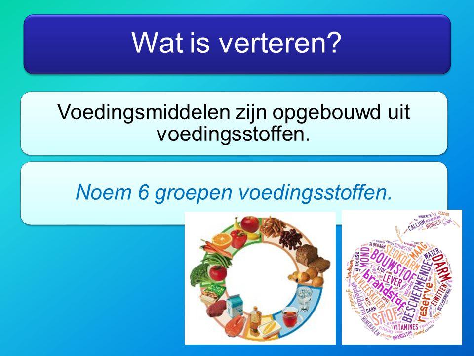 Doel verteren Uiteindelijk moeten voedingsstoffen (bijv.