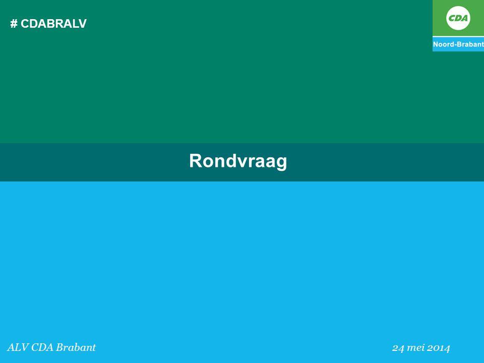 # CDABRALV ALV CDA Brabant 24 mei 2014 Rondvraag