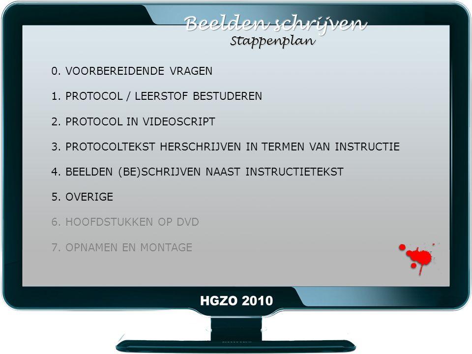 0. VOORBEREIDENDE VRAGEN 1. PROTOCOL / LEERSTOF BESTUDEREN 2.