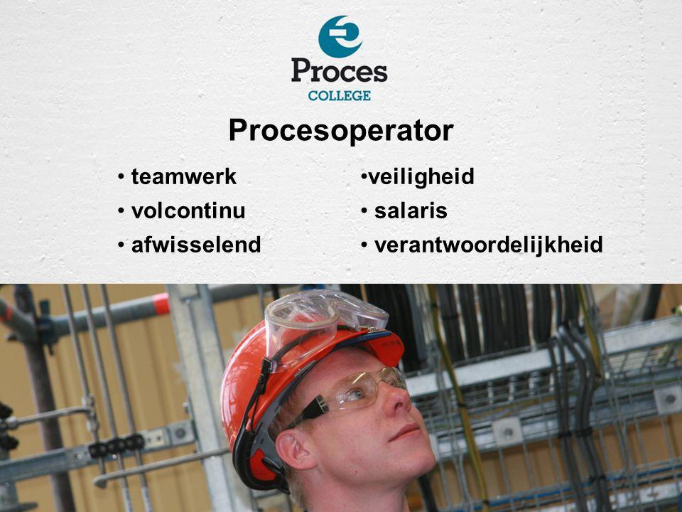 Procesoperator teamwerk volcontinu afwisselend veiligheid salaris verantwoordelijkheid