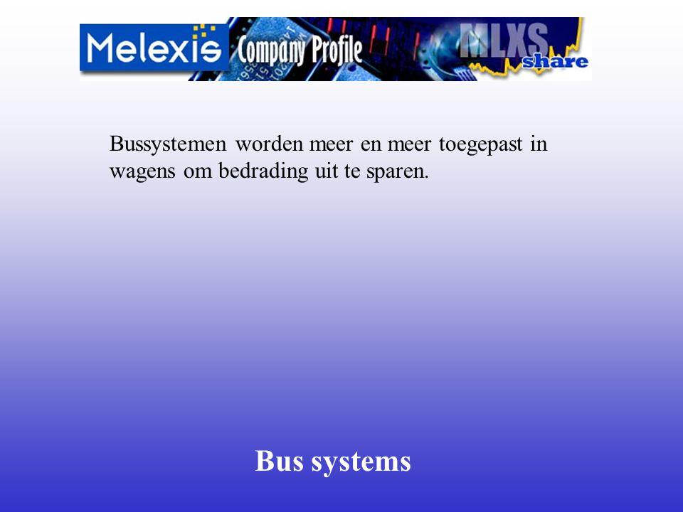 Bus systems Bussystemen worden meer en meer toegepast in wagens om bedrading uit te sparen.