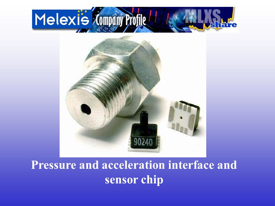 Pressure and acceleration interface and sensor chip