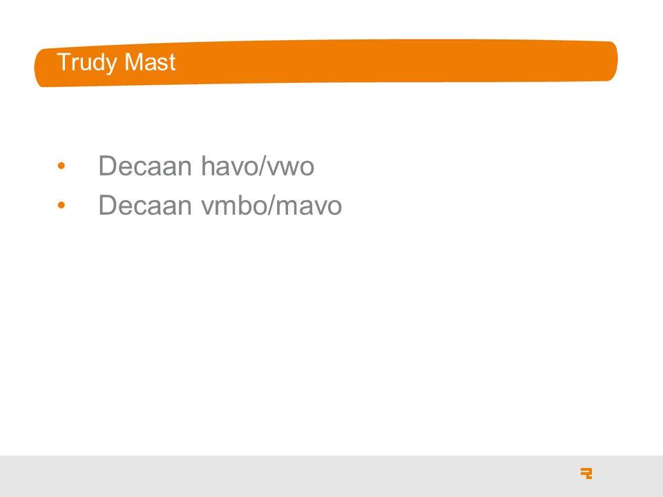 Trudy Mast Decaan havo/vwo Decaan vmbo/mavo
