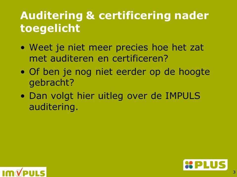 3 Auditering & certificering nader toegelicht Weet je niet meer precies hoe het zat met auditeren en certificeren.