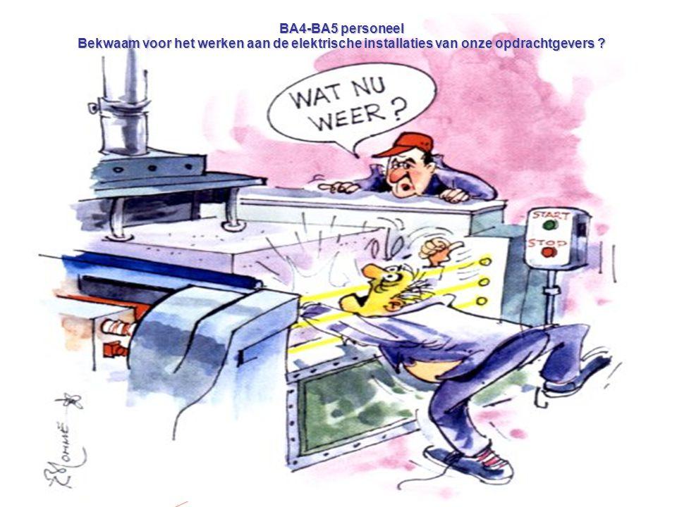 BA4-BA5 personeel Bekwaam voor het werken aan de elektrische installaties van onze opdrachtgevers ?