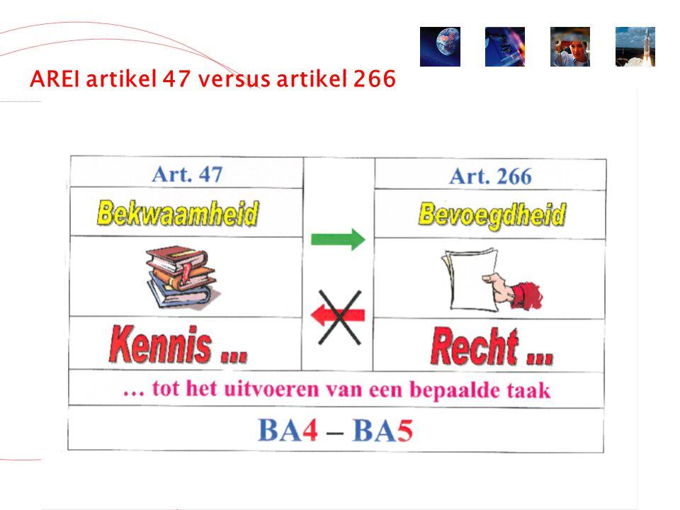 AREI artikel 47 versus artikel 266