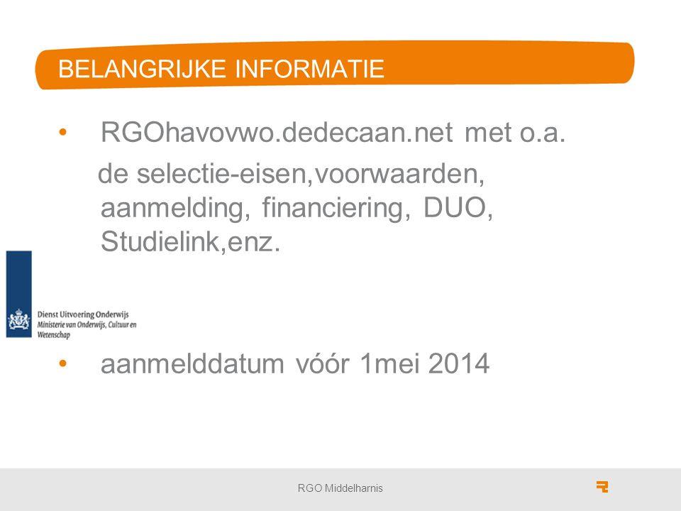 BELANGRIJKE INFORMATIE RGOhavovwo.dedecaan.net met o.a.