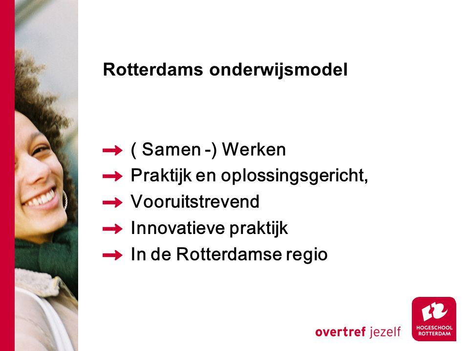 ( Samen -) Werken Praktijk en oplossingsgericht, Vooruitstrevend Innovatieve praktijk In de Rotterdamse regio