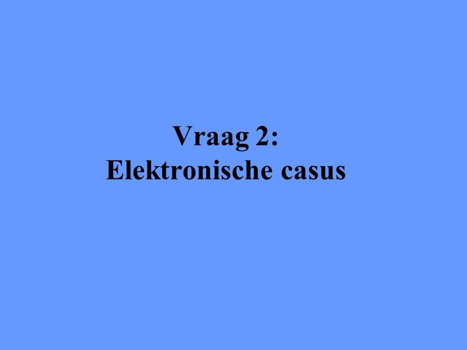 Vraag 2: Elektronische casus