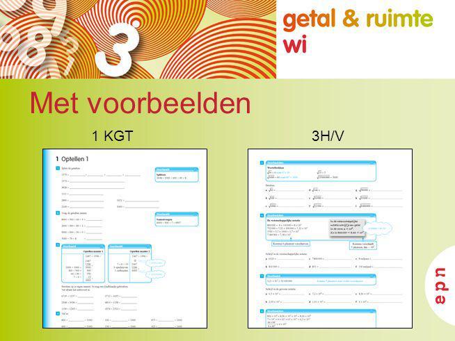 Met voorbeelden 3H/V1 KGT
