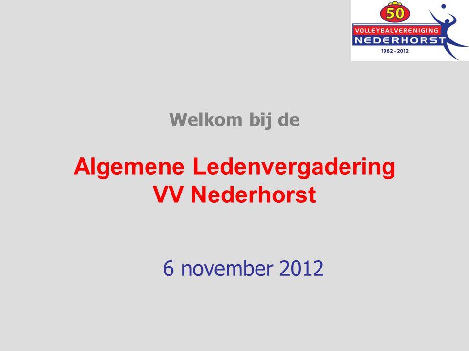 Welkom bij de Algemene Ledenvergadering VV Nederhorst 6 november 2012