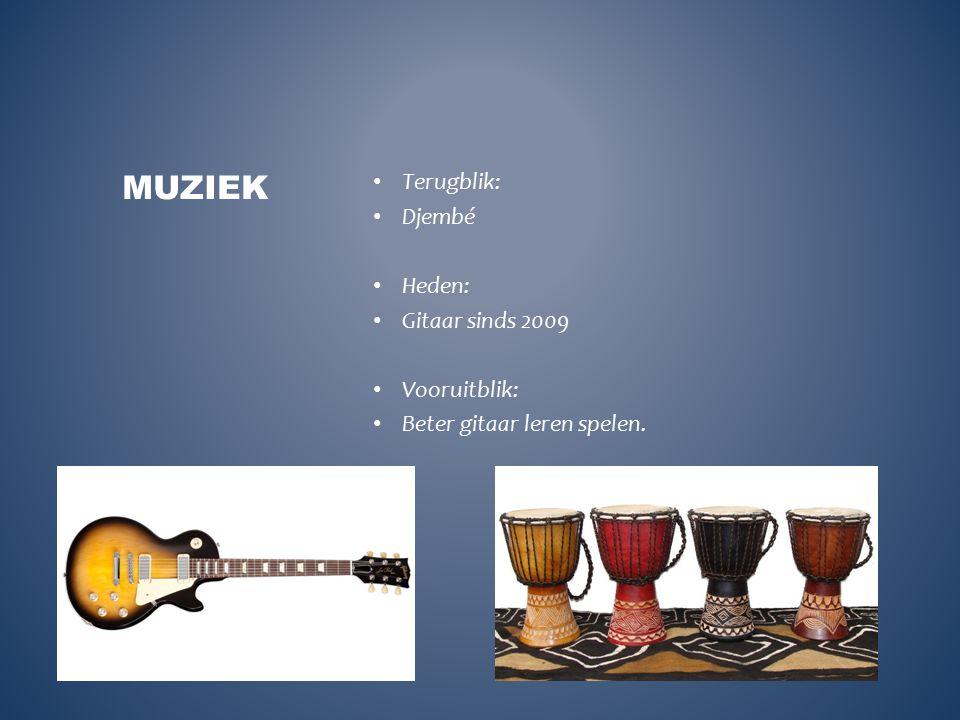 Terugblik: Djembé Heden: Gitaar sinds 2009 Vooruitblik: Beter gitaar leren spelen. MUZIEK