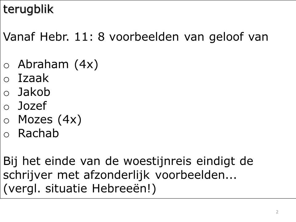 3 Hebreeën 11 32 En wat moet ik nog verder aanvoeren.
