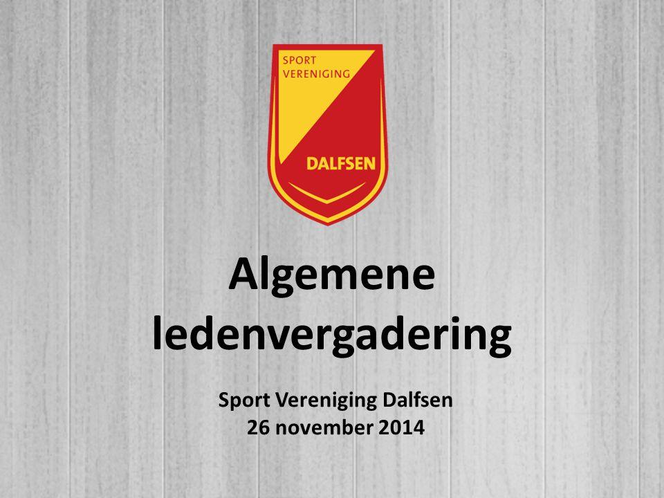 Algemene ledenvergadering Sport Vereniging Dalfsen 26 november 2014