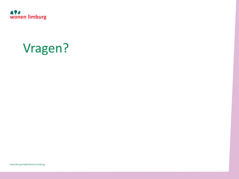 Vragen Huurdersportaal Wonen Limburg