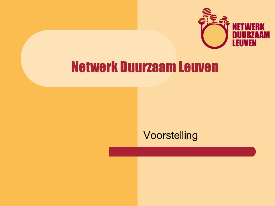 Netwerk Duurzaam Leuven Voorstelling