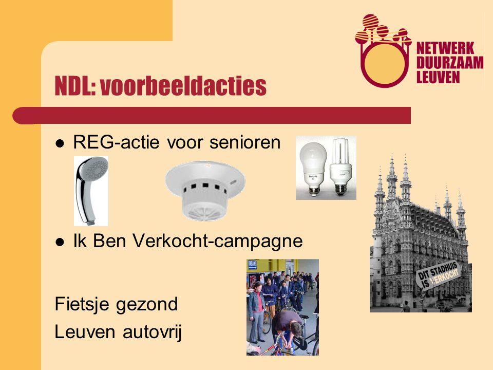 NDL: voorbeeldacties REG-actie voor senioren Ik Ben Verkocht-campagne Fietsje gezond Leuven autovrij