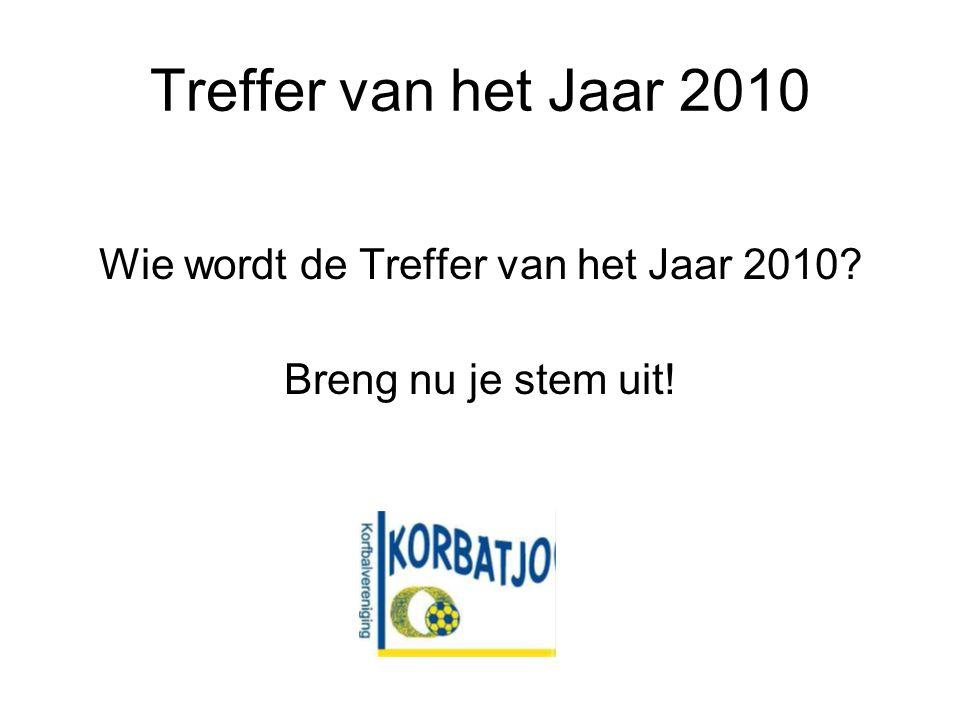 Treffer van het Jaar 2010 Wie wordt de Treffer van het Jaar 2010 Breng nu je stem uit!