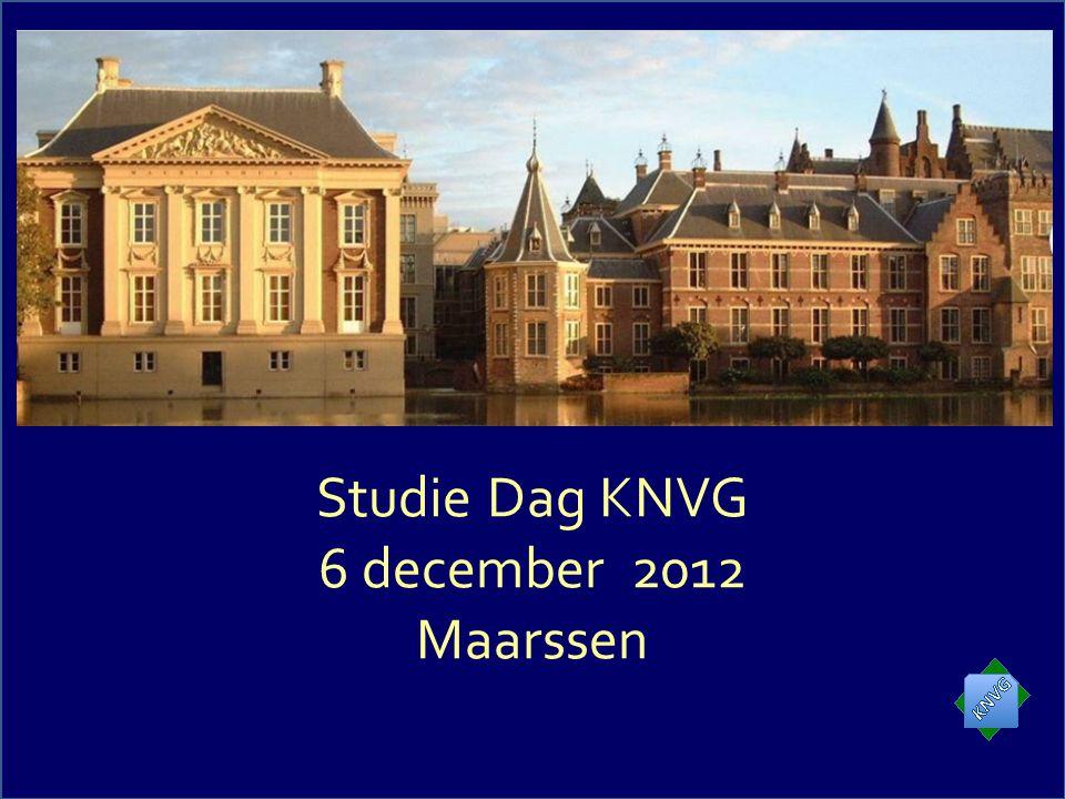 Studie Dag KNVG 6 december 2012 Maarssen