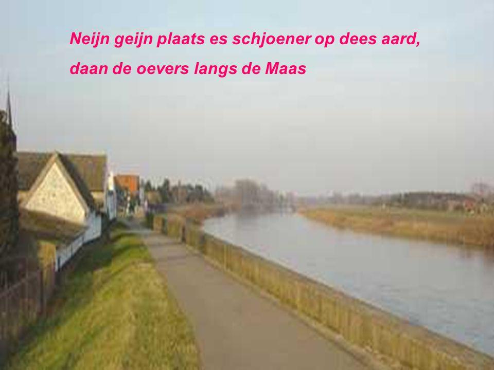 Greun, gele velden, heij langs de Maas