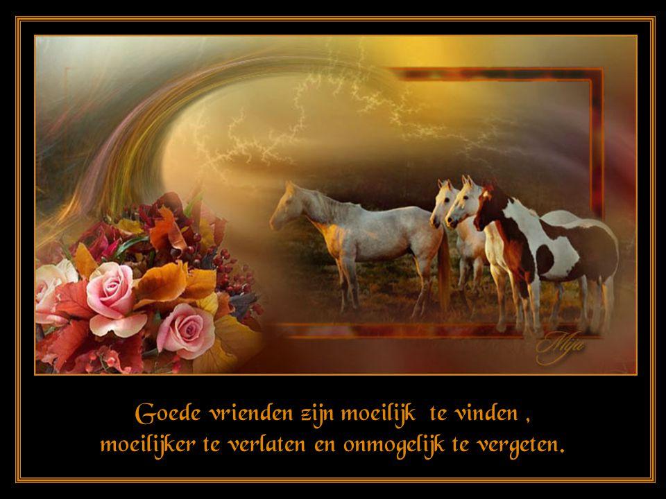 Goede vrienden zijn moeilijk te vinden, moeilijker te verlaten en onmogelijk te vergeten.