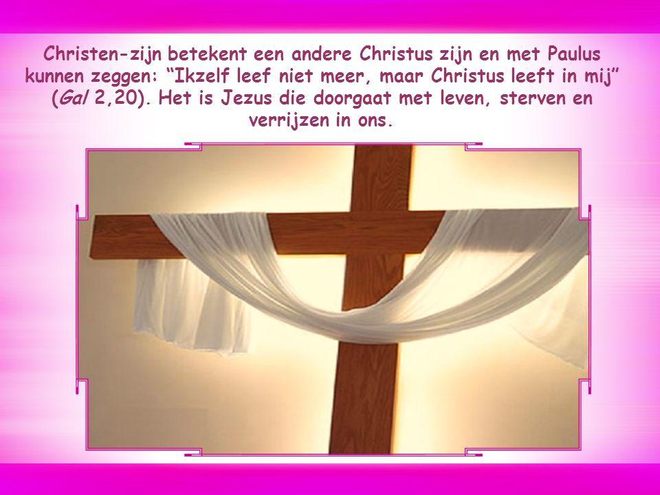Wie mijn volgeling wil zijn, moet zichzelf verloochenen, zijn kruis op zich nemen en zo achter mij aan komen. Marcus 8, 34