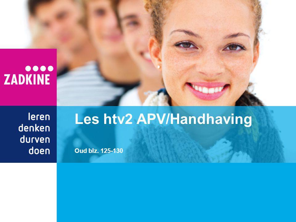 Les htv2 APV/Handhaving Oud blz. 125-130