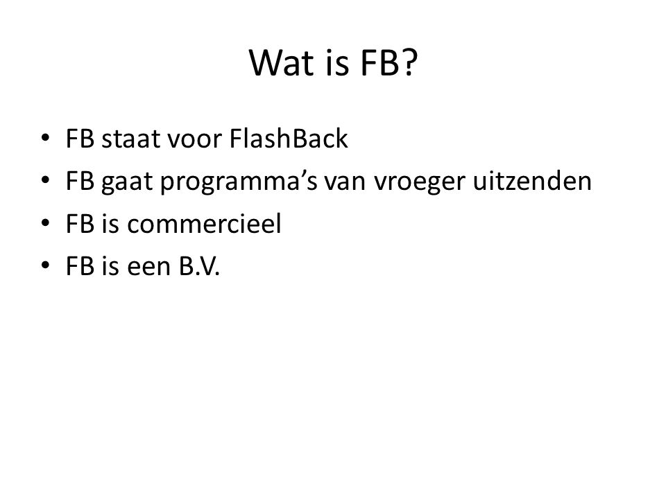 Wat is FB.