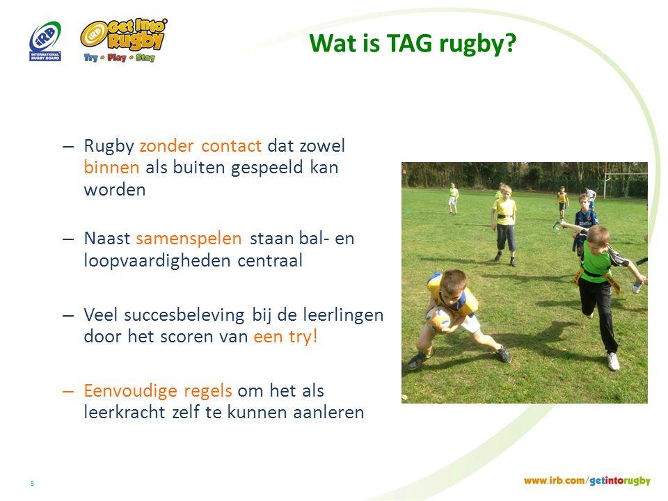 5 Wat is TAG rugby.