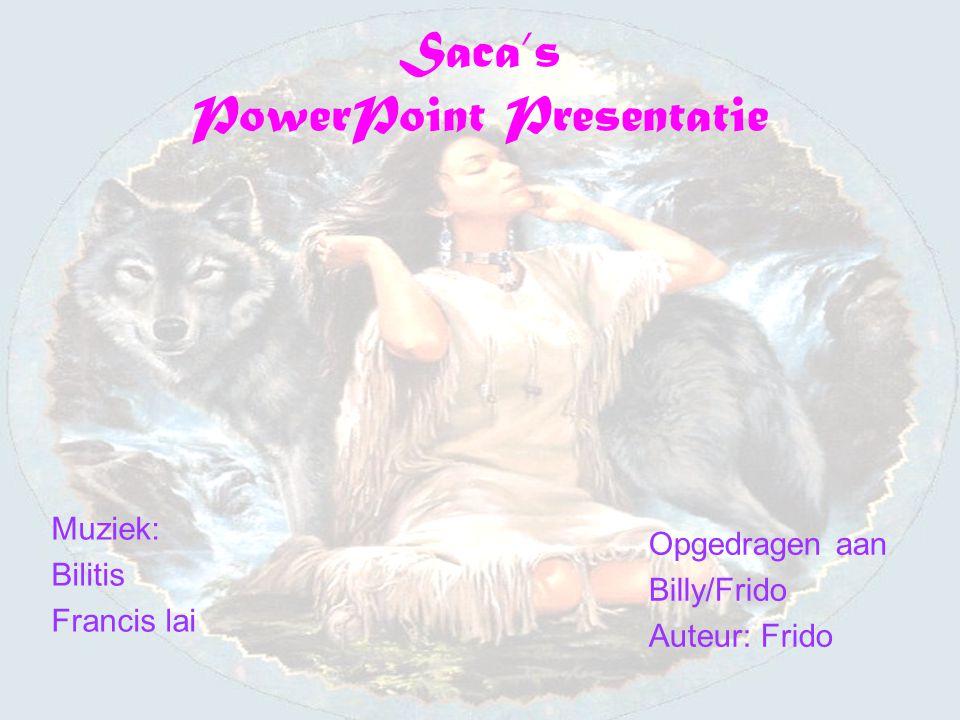Saca's PowerPoint Presentatie Muziek: Bilitis Francis lai Opgedragen aan Billy/Frido Auteur: Frido