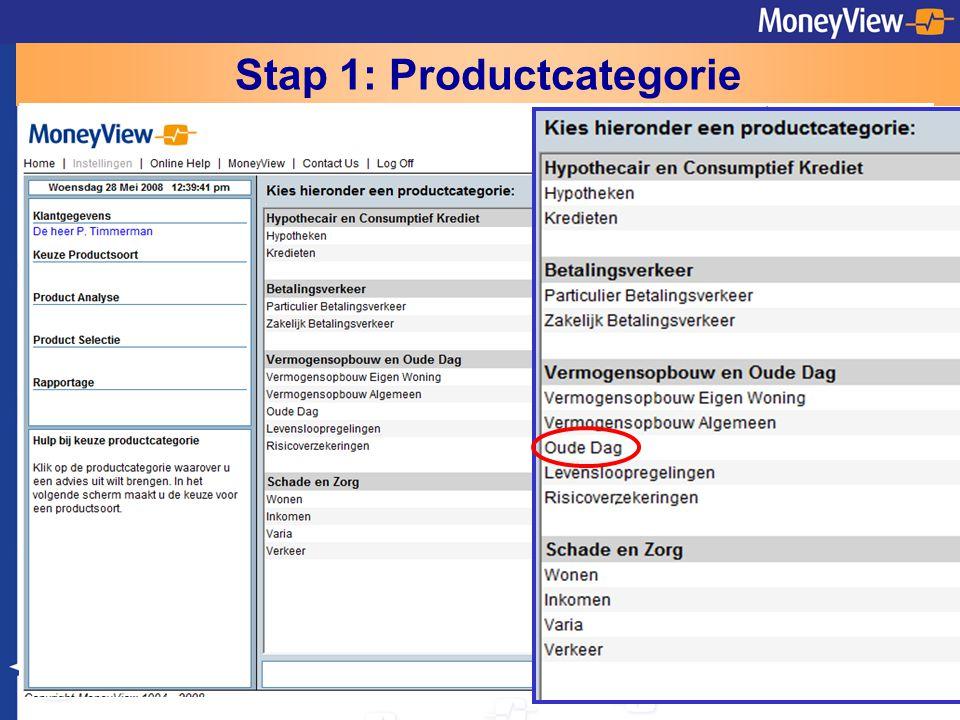 Stap 1: Productcategorie