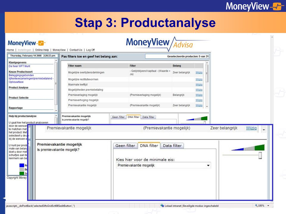 Stap 3: Productanalyse
