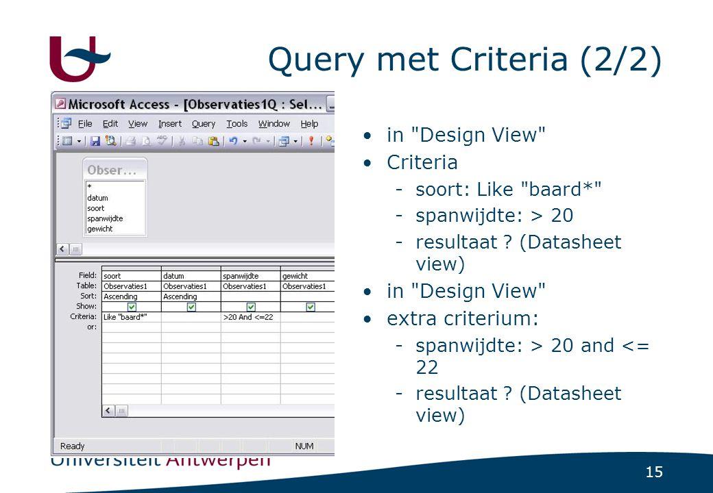 15 Query met Criteria (2/2) in
