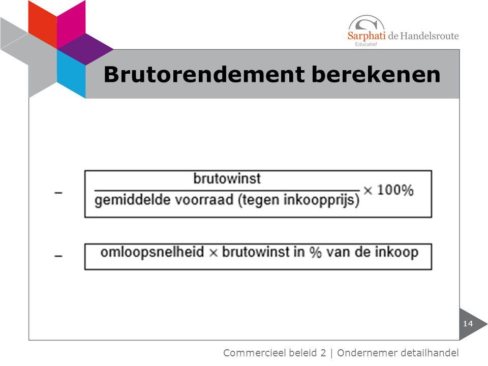 14 Brutorendement berekenen Commercieel beleid 2   Ondernemer detailhandel