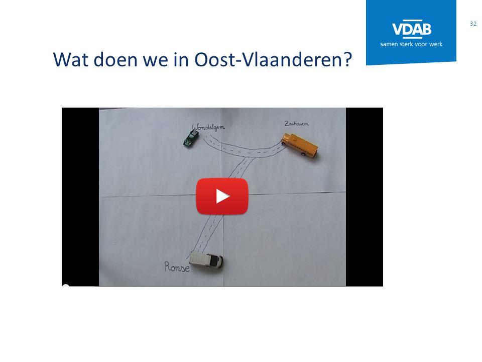 Wat doen we in Oost-Vlaanderen? 32
