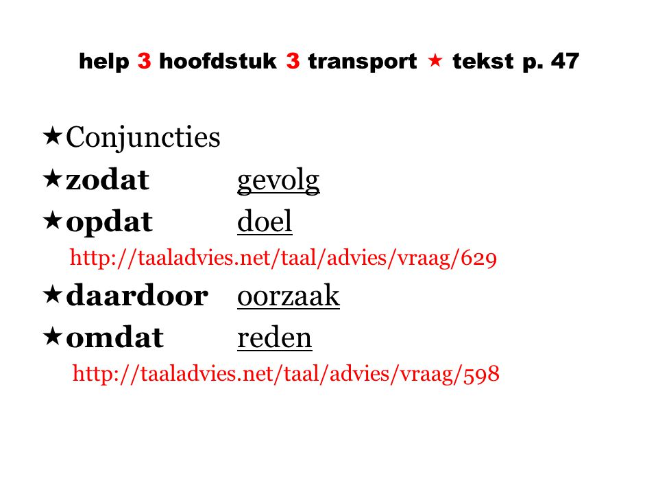 help 3 hoofdstuk 3 transport  tekst p.